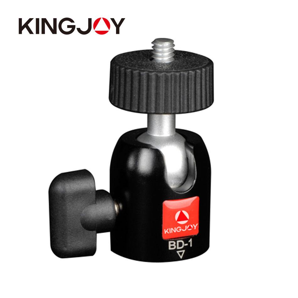 Kingjoy single lock knob design mini photo tripod ball head with UNC1/4''screw max load 3kg