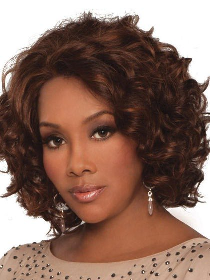Top quality short curly wave human hair full lace wigs for black women