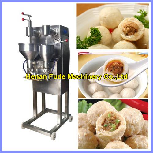 Automatic stuffing meatball forming machine , fish ball making machine, beef meatball forming machin