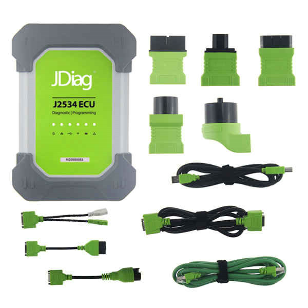 2017 JDiag Elite II Pro J2534 Diagnostic Tool with Full Adapters Support ECU Programming