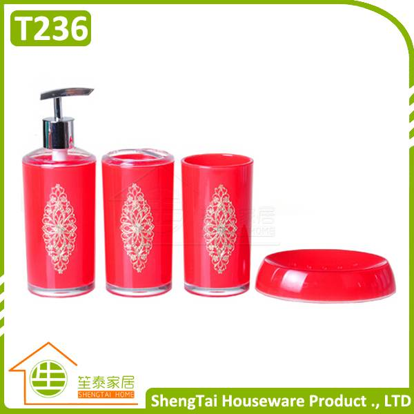 Modern Iron Flower Pattern Decorative European Style Custom Bathroom Set