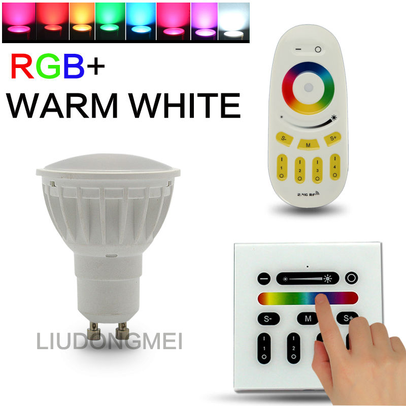 CE&Rohs certified 4W GU10 rgb+cct smart led spotlight wireless rf remote and wifi controllable led s