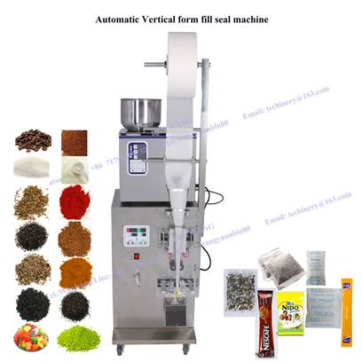 Automatic Vertical form fill seal packing machine VFFS tea coffee spices snack granule powder partic