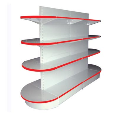 4 shelves semicircular style display shelves