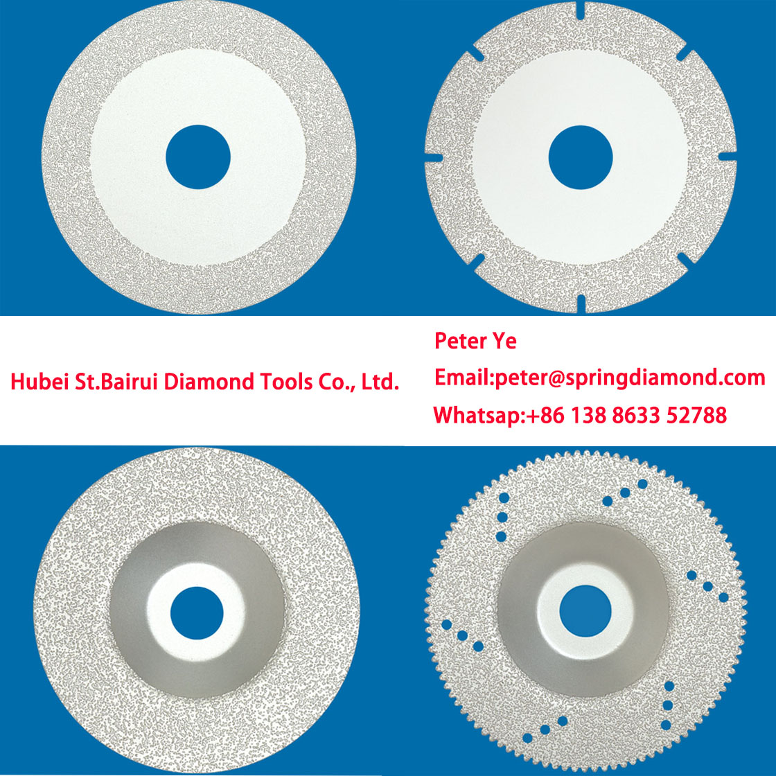 brazing discs for stone cutting and emergency rescue