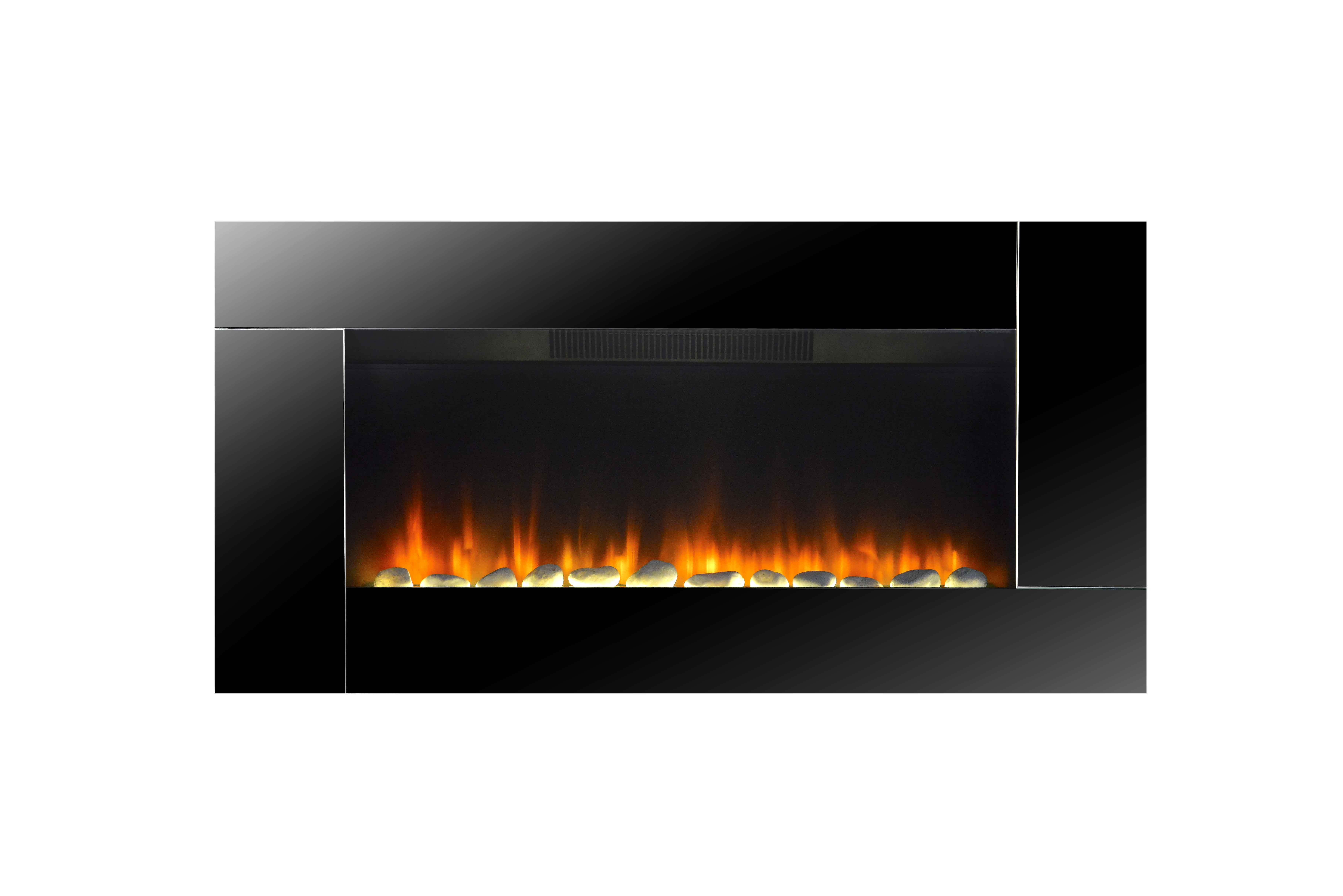 Wall Mounted Electric Fire Place with mirror LJHF3702E