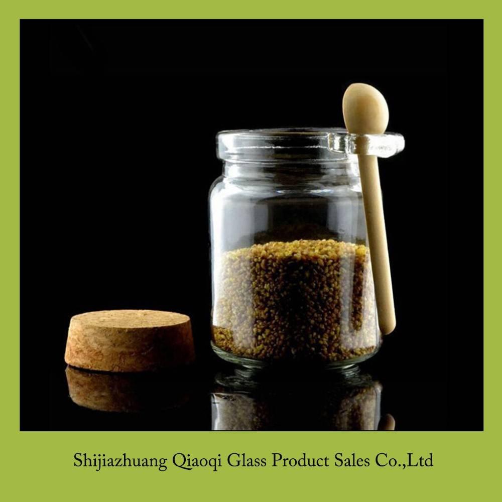 225ml glass jar with wood spoon
