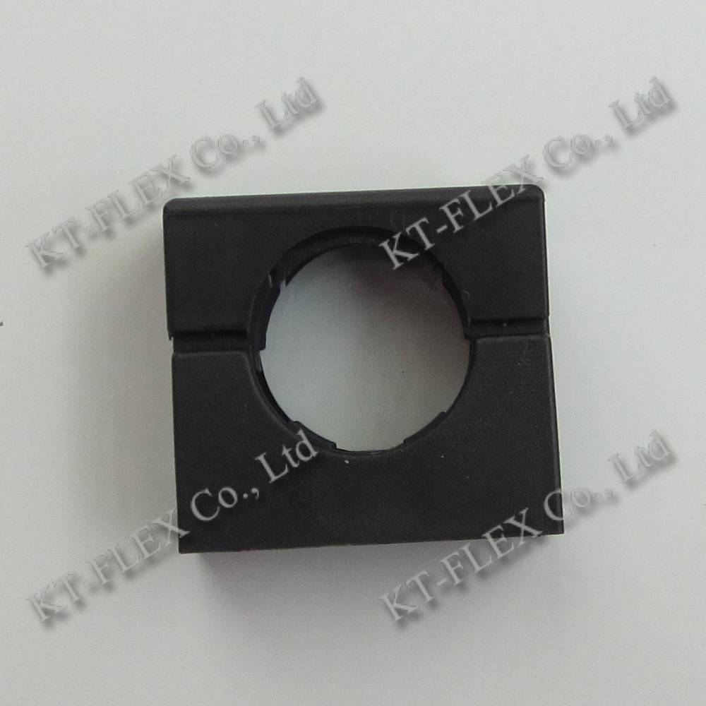 Non-metallic mounting brackets with cap