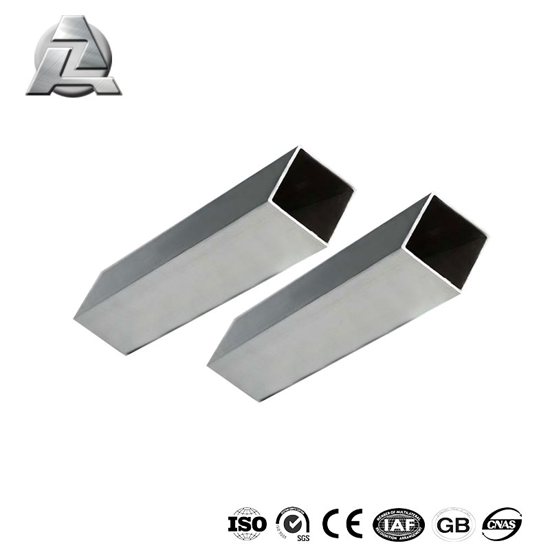 6061 t6 silver powder coated aluminum extruded square tube profile