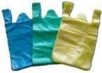 HDPE Plain Plastic T-Shirt Retail Shopping bag/Retail grocery bag/Vest handle bag/Vest carrier bag