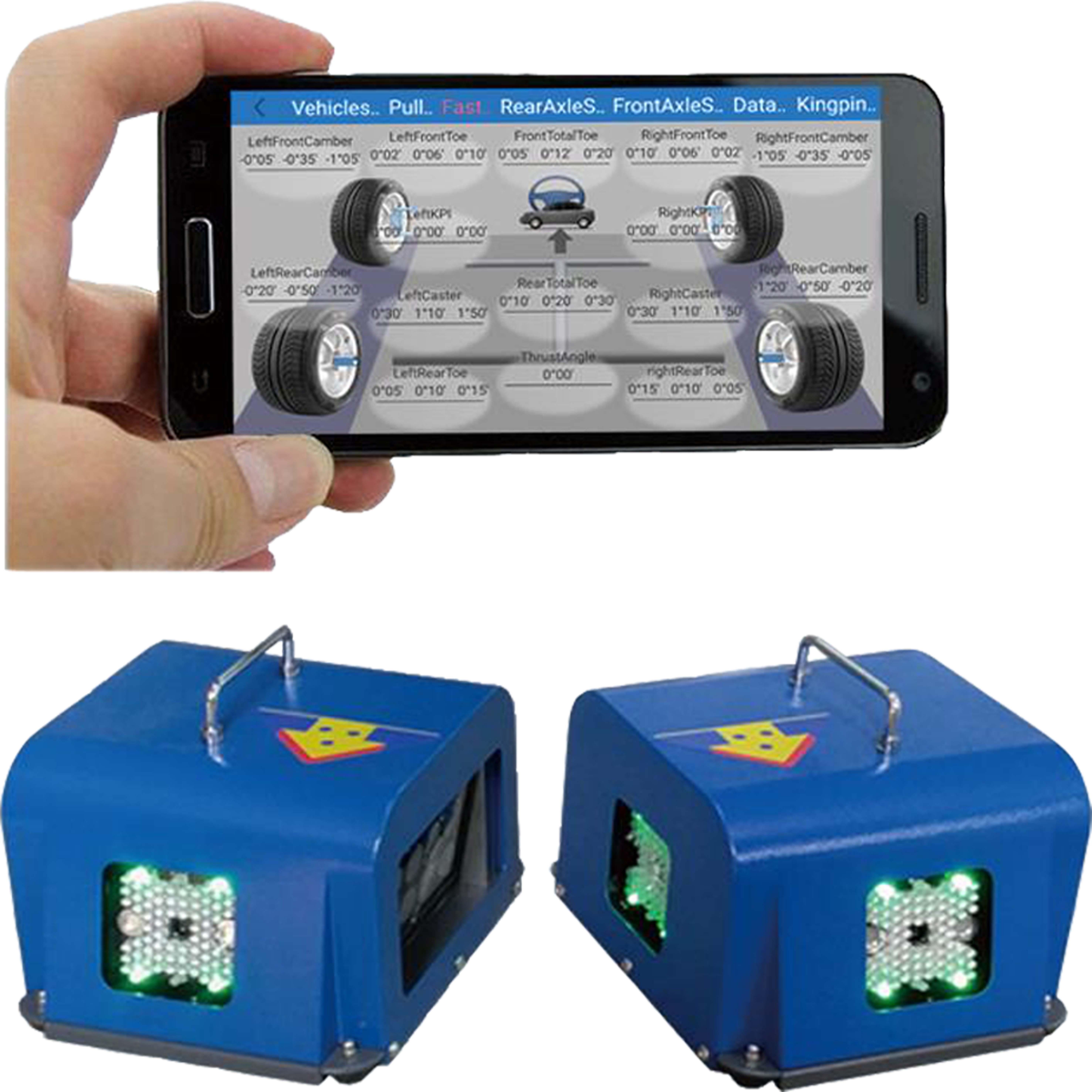 Portable 3D Computer Wheel Aligner