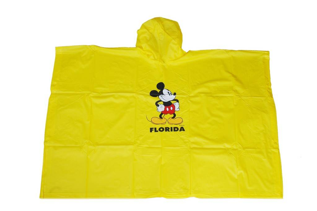 R-1020K-2004 YELLOW DISNEY MICKY MOUSE PVC VINYL BOYS RAINCOAT
