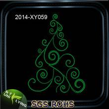 Christmas Tree Western Hotfix Rhinestone Heat Transfer