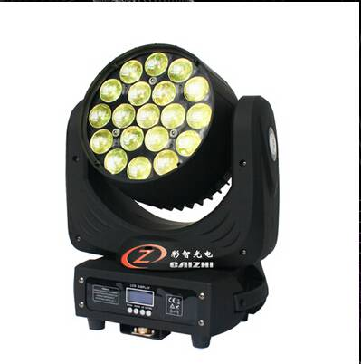 the newest 19X15W RGBW led bee eye zoom moving head stage light