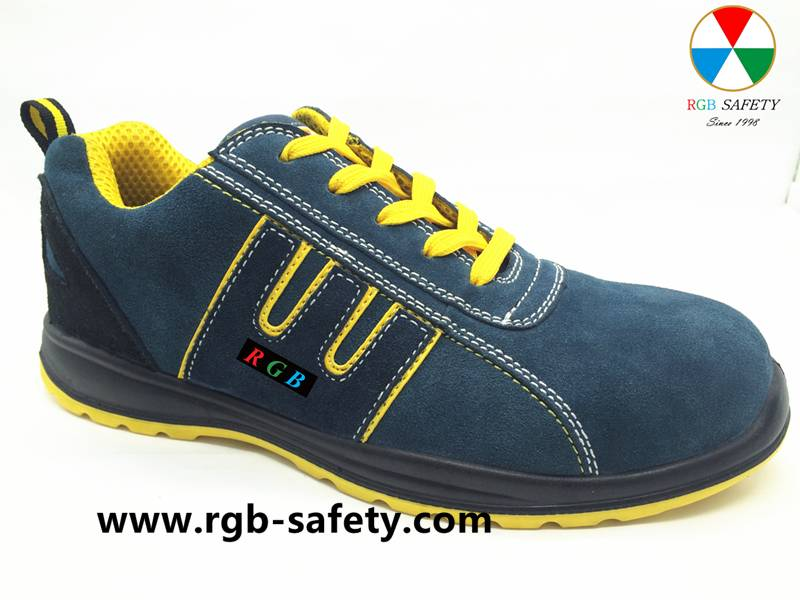 Comfortable Lightweight Safety composite Toe Shoes with PU sole S1P SF-034