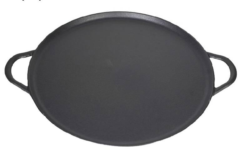 cast iron seasoned pizza pans