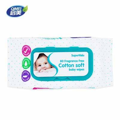 80pcs Fragrance free Baby Wipes