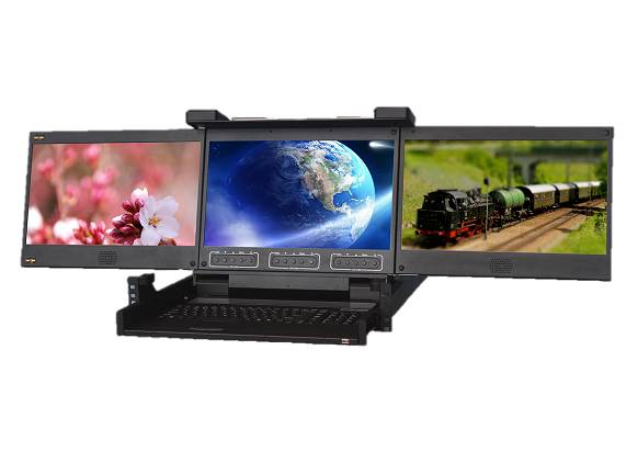 Triple Screen LCD Console Drawers
