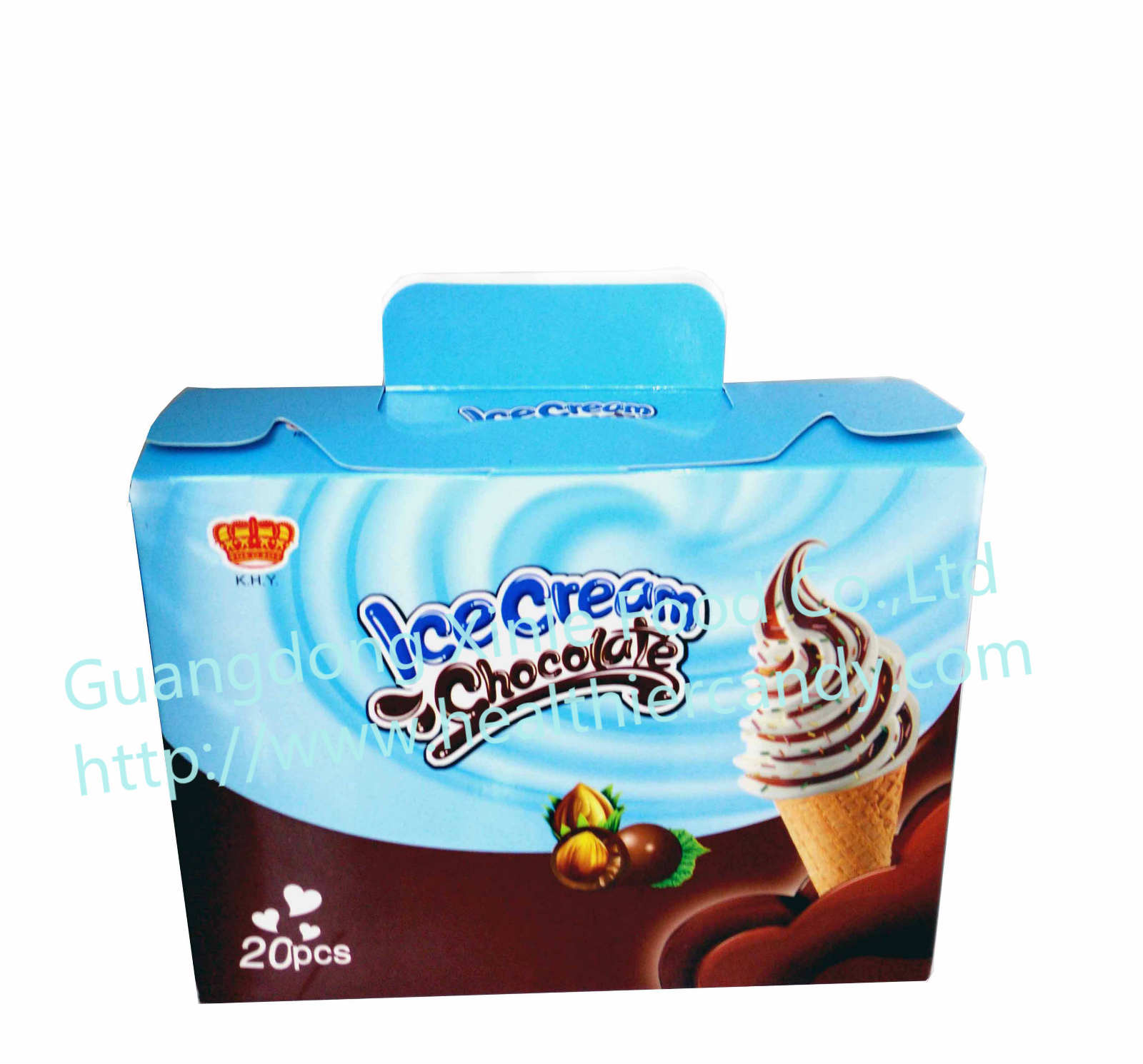 Wholesale Fancy Chocolate Candy, Ice Cream Shape, Cheap and Delicious