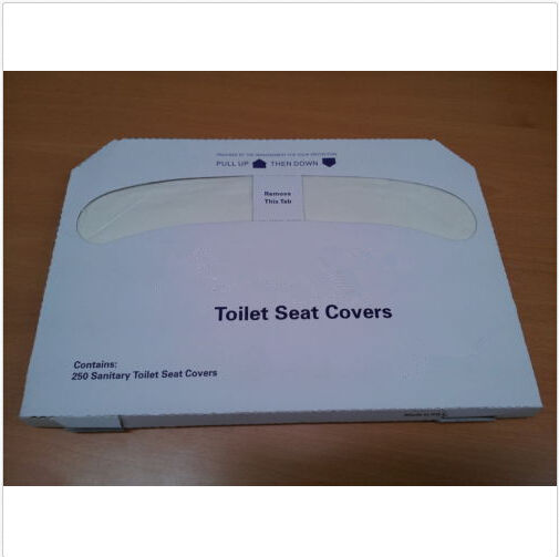Half Fold Disposable Toilet Seat Cover Paper, Essential for Public Restrooms, Antivirus