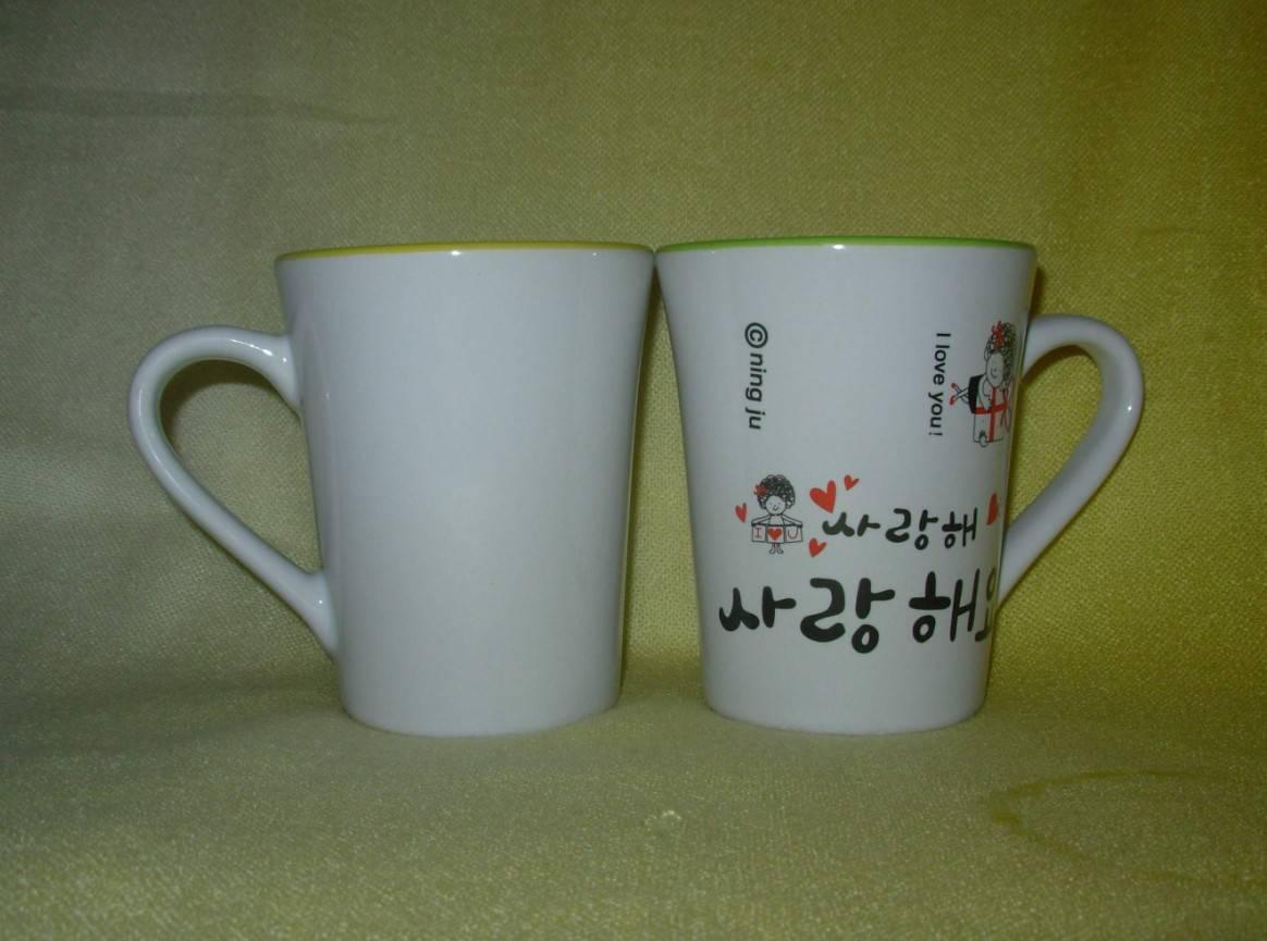 Promotional Porcelain Mug with Logo Printing, SA8000, SMETA Sedex/BRC/ISO9001 Social Audit Factory