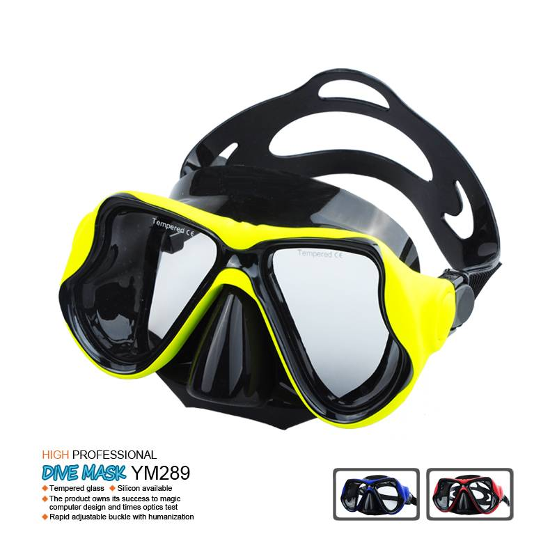 silicone scuba diving mask