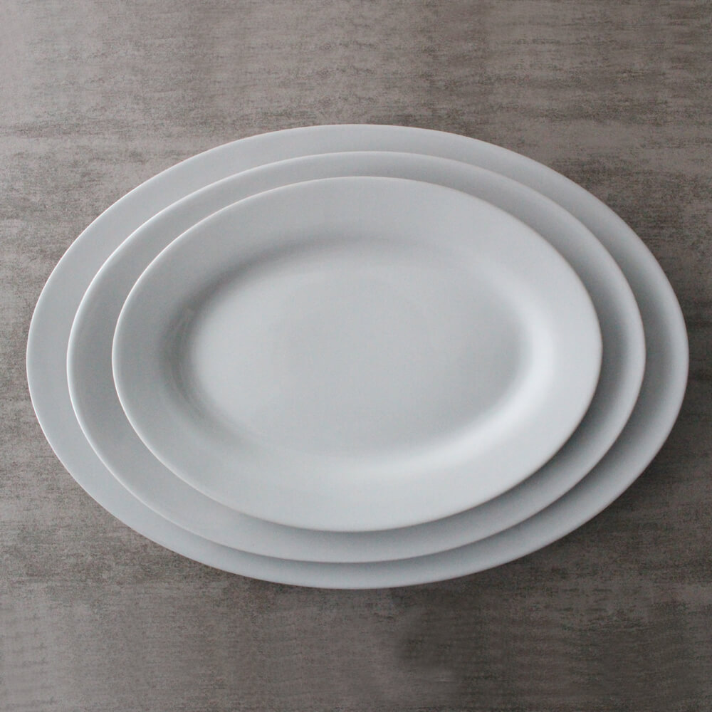 Oval Platter Restaurant Plates in 10 inch,12 inch,14 inch