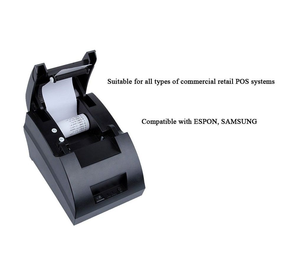 Wholesale desktop 58mm pos printer ethernet support all type of commercial retail POS systems
