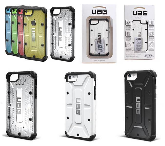 UAG waterproof phone case for Iphone 5C with retail packing high quality
