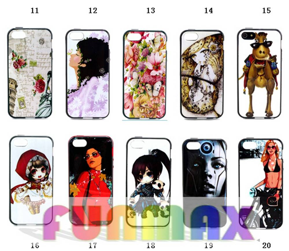 iPhone 5 5S Personalized Printing TPU + PC Protective Back Case Cover Skin Shell
