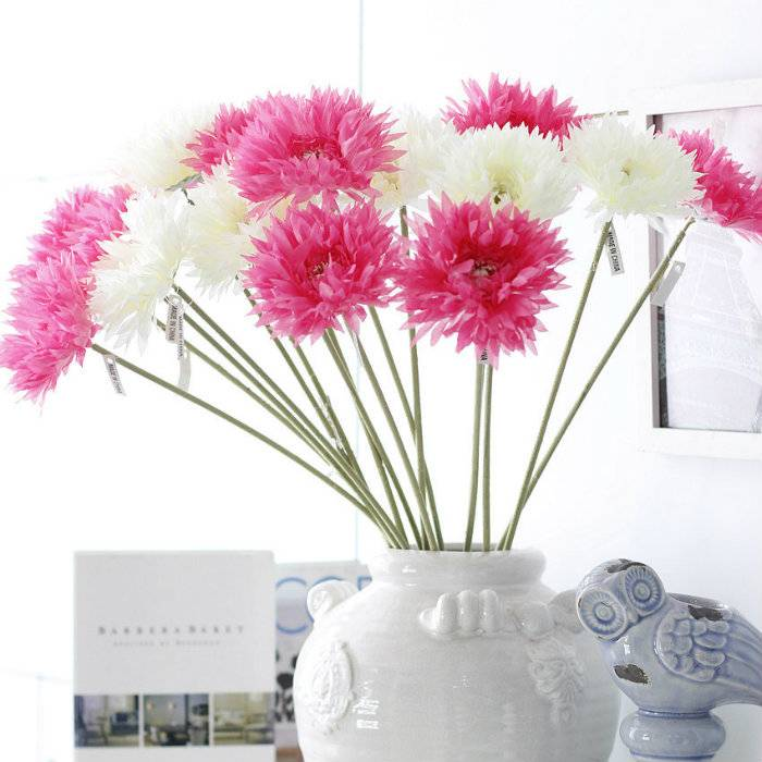 colorful silk chrysanthemum artificial flower