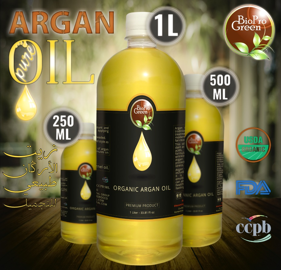 Daily use organic argan oil from Morocco