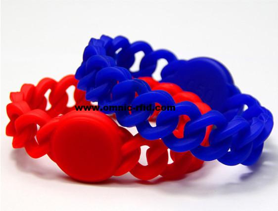 RFID silicone wristbands twist band