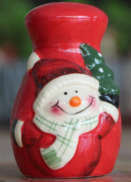 ceramics salt and pepper shaker for christmas ornament