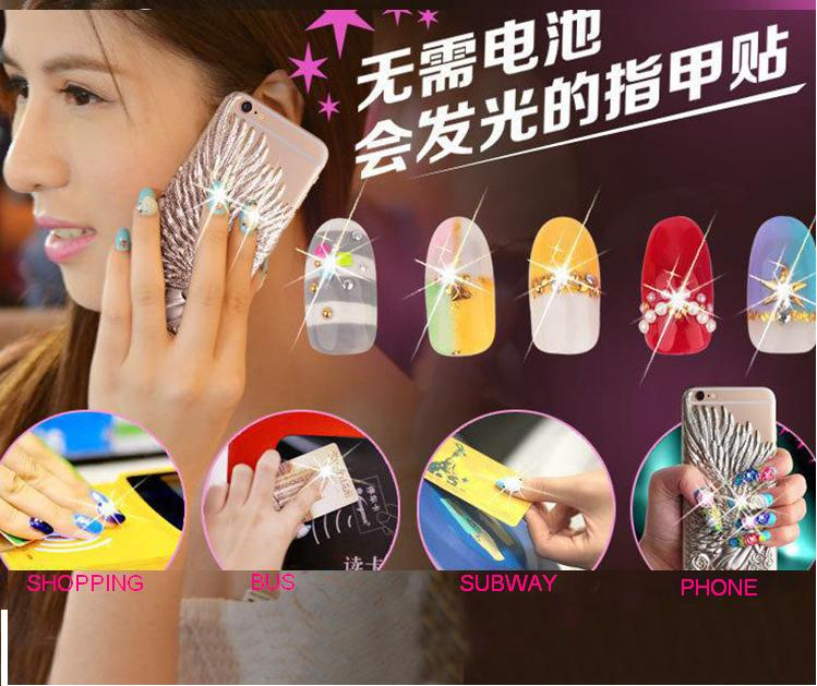 LED lighter nail art sticker water proof, CAN LIGHTER NAIL SITKCER