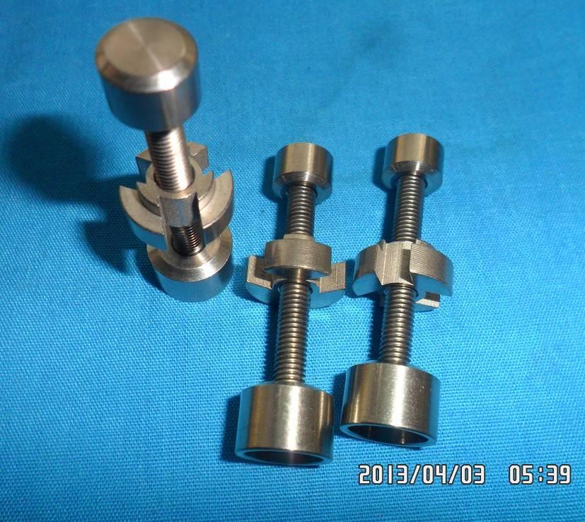 Domeless Titanium Male Nail fits 14mm18 mm female downstem 2-ridge