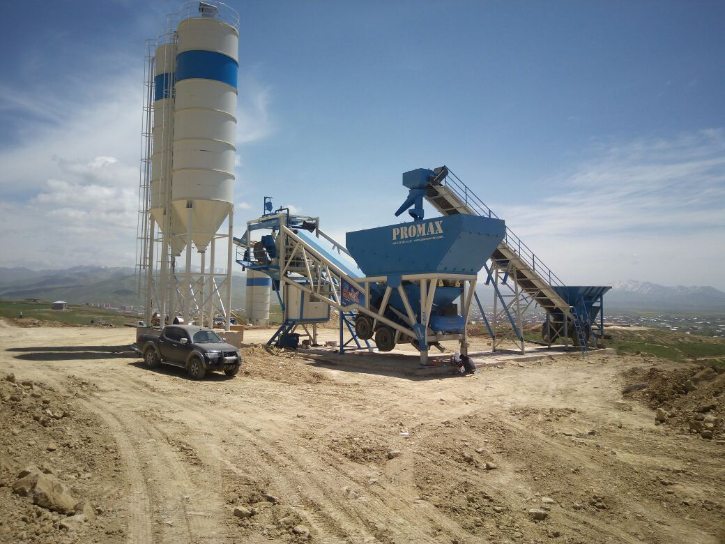 PROMAX Mobile Concrete Batching Plant M100-SNG (100m³/h)
