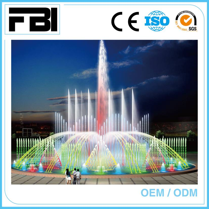 china made stainless steel music fountain