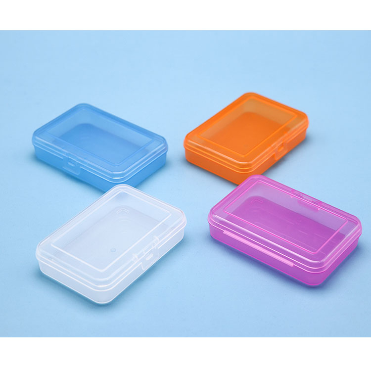 Factory OEM Foldable Box Plastic Storage Container Labeling Silk-Screen Cotton Swab Holder