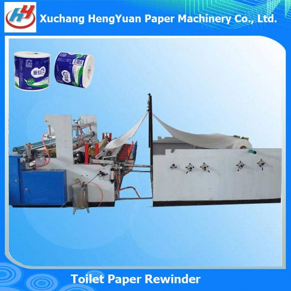 Full Automatic Edge Rolled Toilet Paper Rewinding Machine