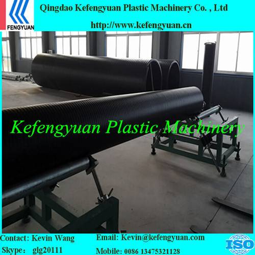 KFY large diameter hollow wall winding pe hdpe pipe tube production line