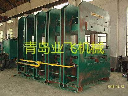 Steel wire rope conveyor belt vulcanizing machine