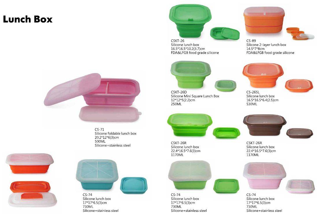 Food Grade Collapsible Series of Silicone Lunch Box