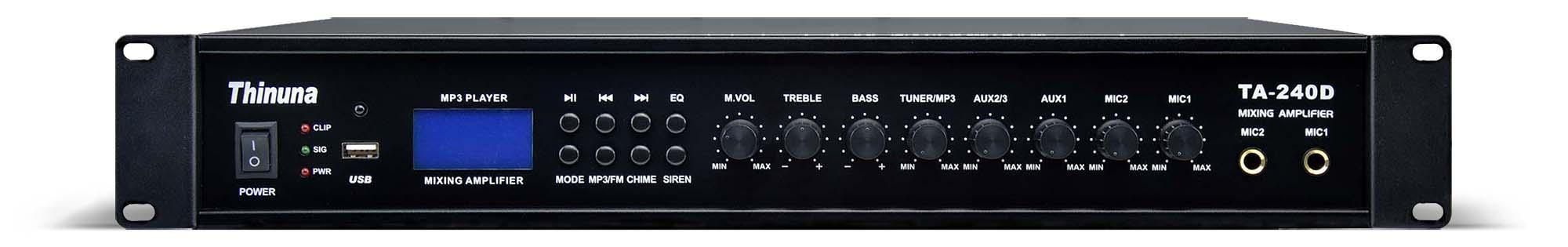 TA-80D/120D/180D/240D Mixing Amplifier