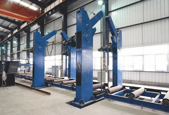 180 Degree Chain Overturning Machine for H beam or Box column