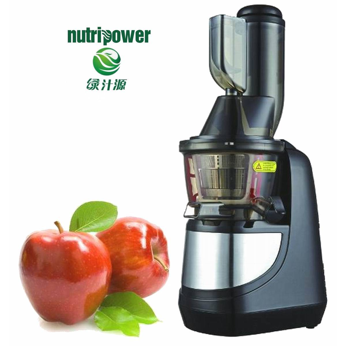 Dual-stage vertical single auger low speed juicer