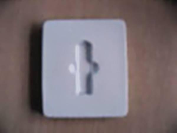 PVC plastic rectangular tray for USB