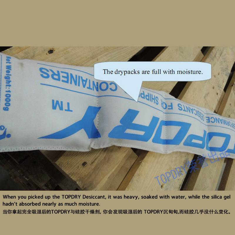 TOPDRY Desiccant Prevent Container Sweat