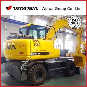 DLS 100-9W 9.7tons wheeled excavator factory price