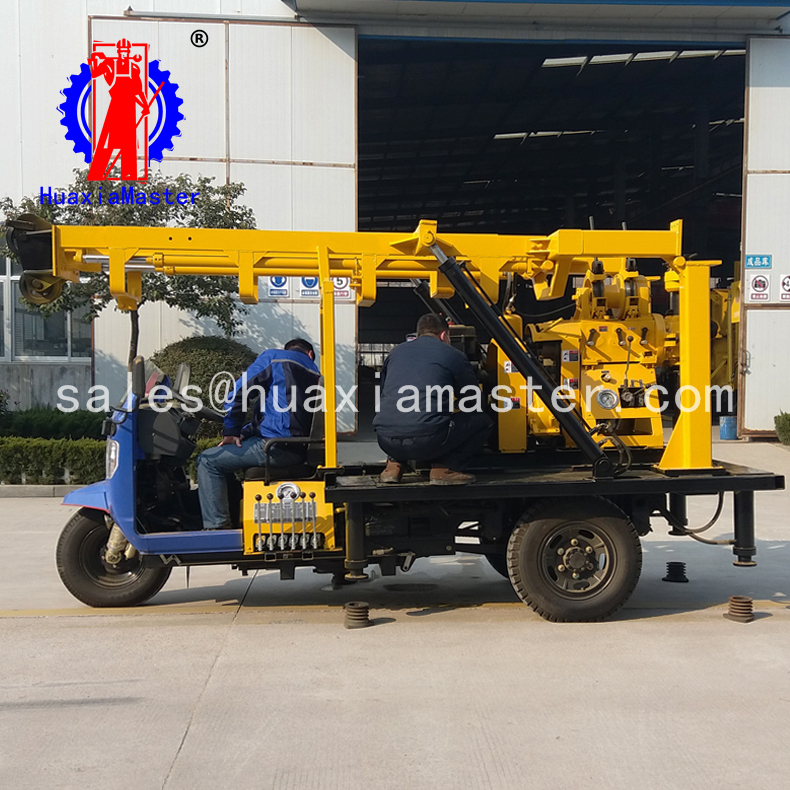 tricycle-mounted water well drilling rig/ borehole civil well drilling machine/geology exploration
